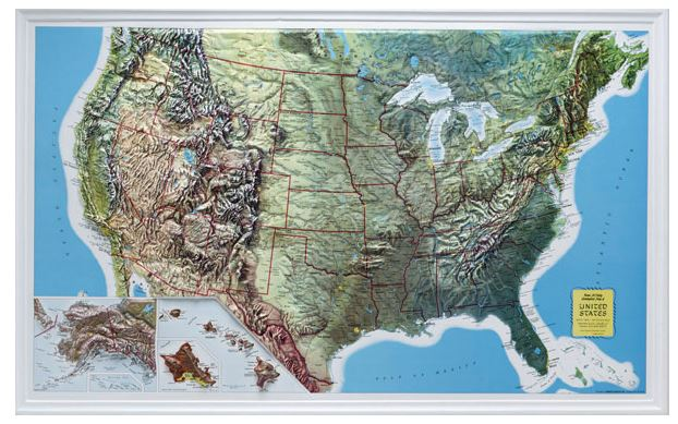 gyuto relief map usa