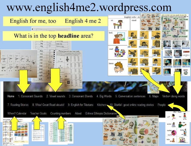 English 4 me too home page for blog explanation