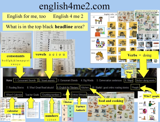 English 4 me too home page top headline area