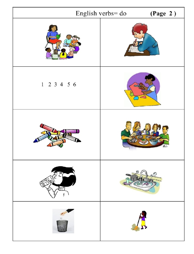 English verbs pg 2 just picture