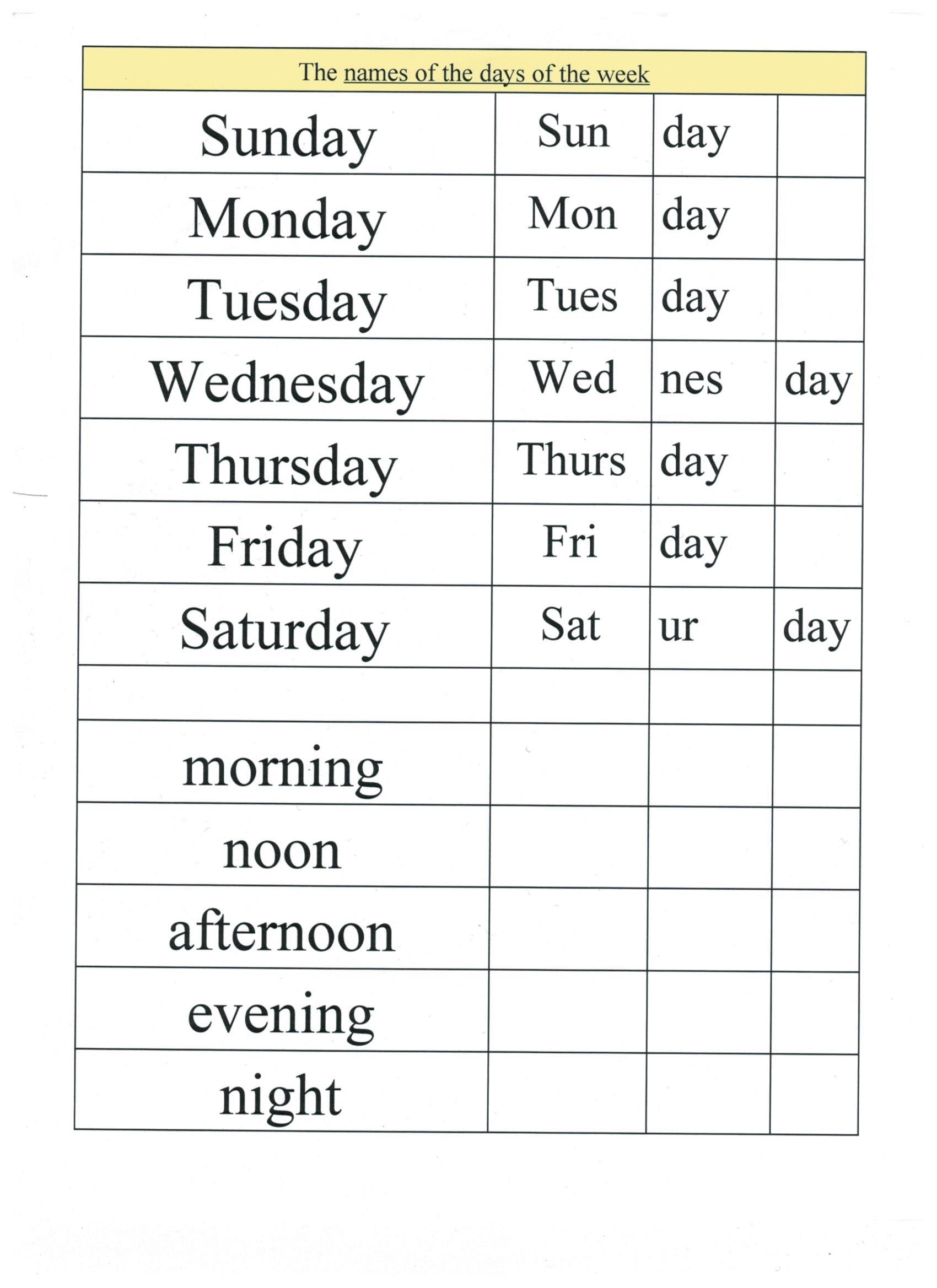 Calendar English : When calendar english me