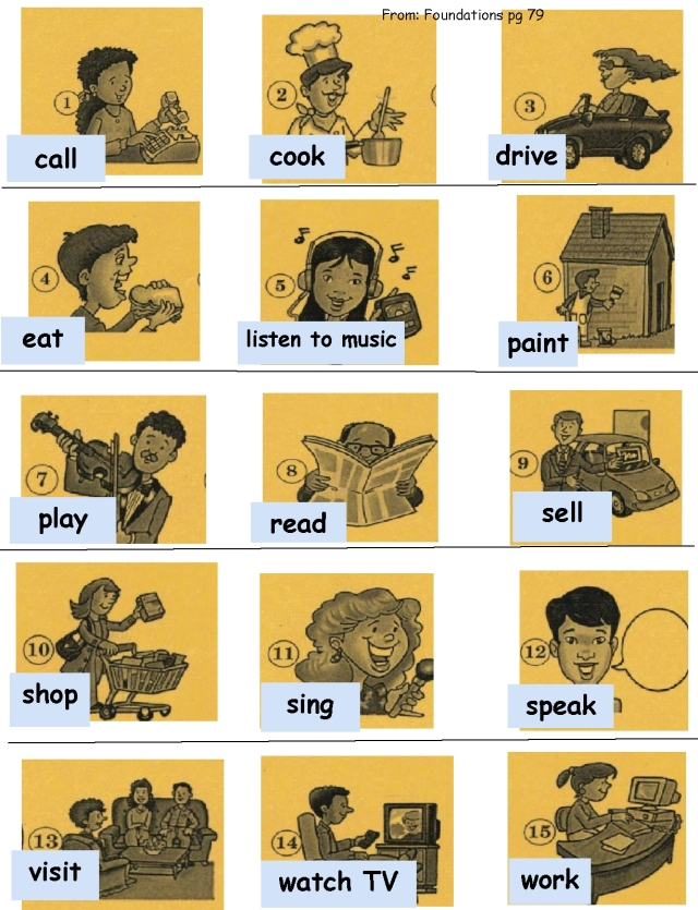 English verbs call labels  page 79