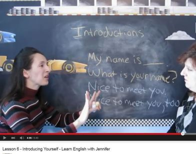 jennifer lesson 6 introducing yourself my name is