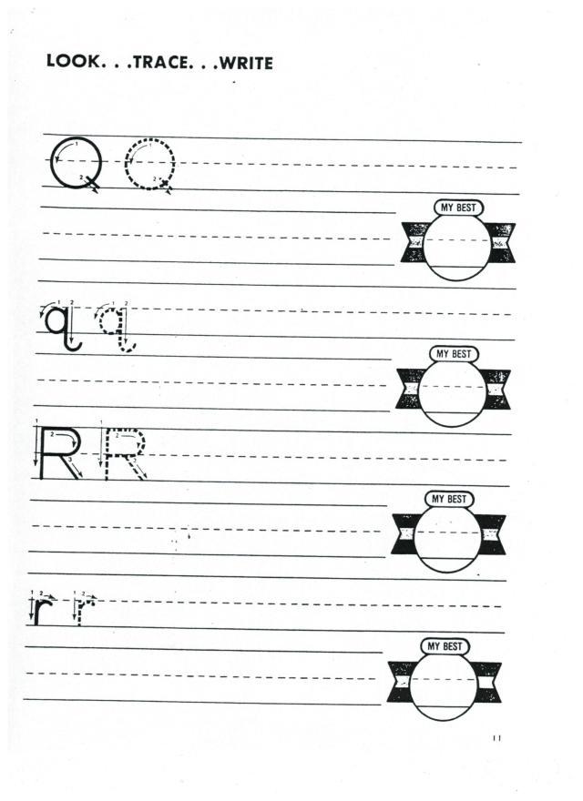 English abc print q r 001
