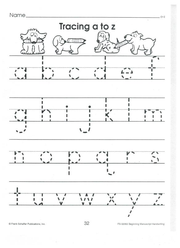 1  ABC Printing: both UPPER CASE and lower case letters