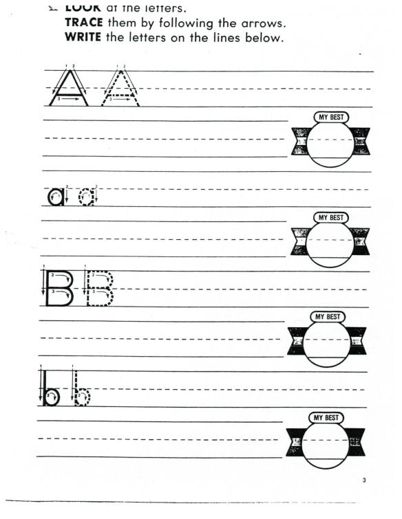 2  More ABC printing A to Z: 2 letters/page | English 4 Me 2