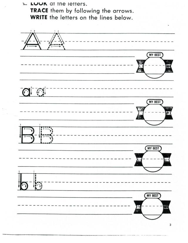 English printing abc a to h 001