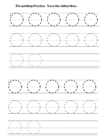 preprinting lines circles