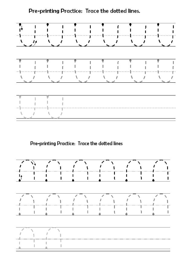 preprinting lines curves