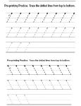 preprinting lines slanted lines